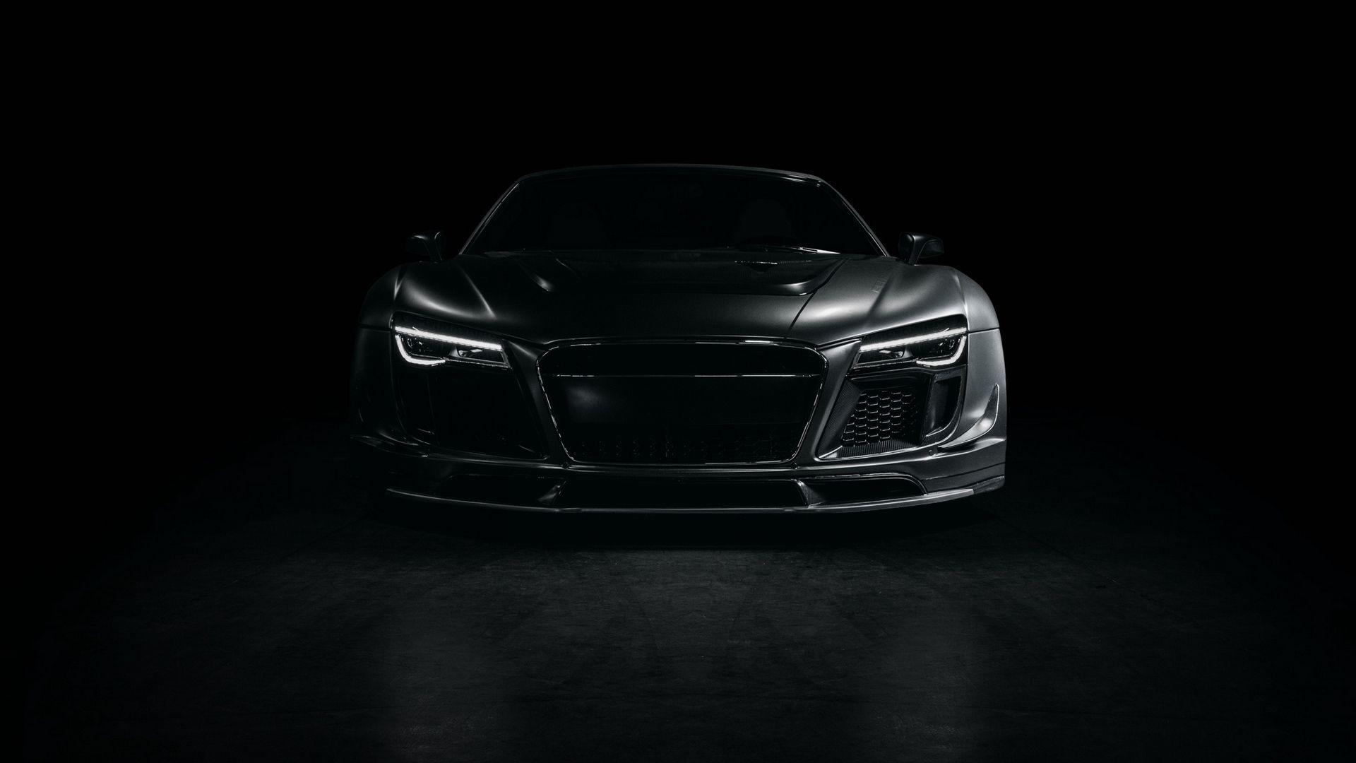 Download wallpapers 1920x1080 audi, r8, sports car, tuning, front