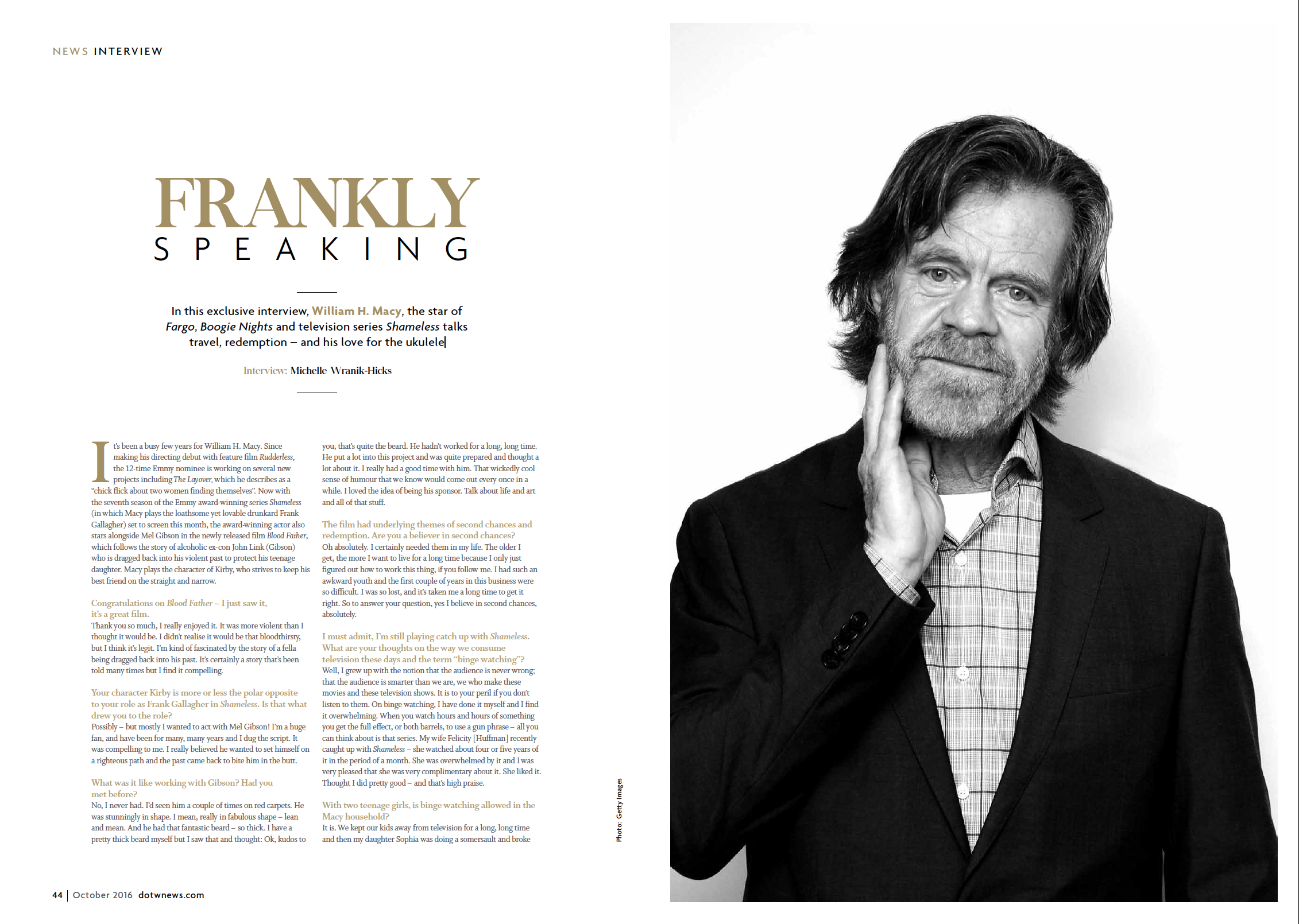 FRANKLY SPEAKING: AN INTERVIEW WITH WILLIAM H. MACY