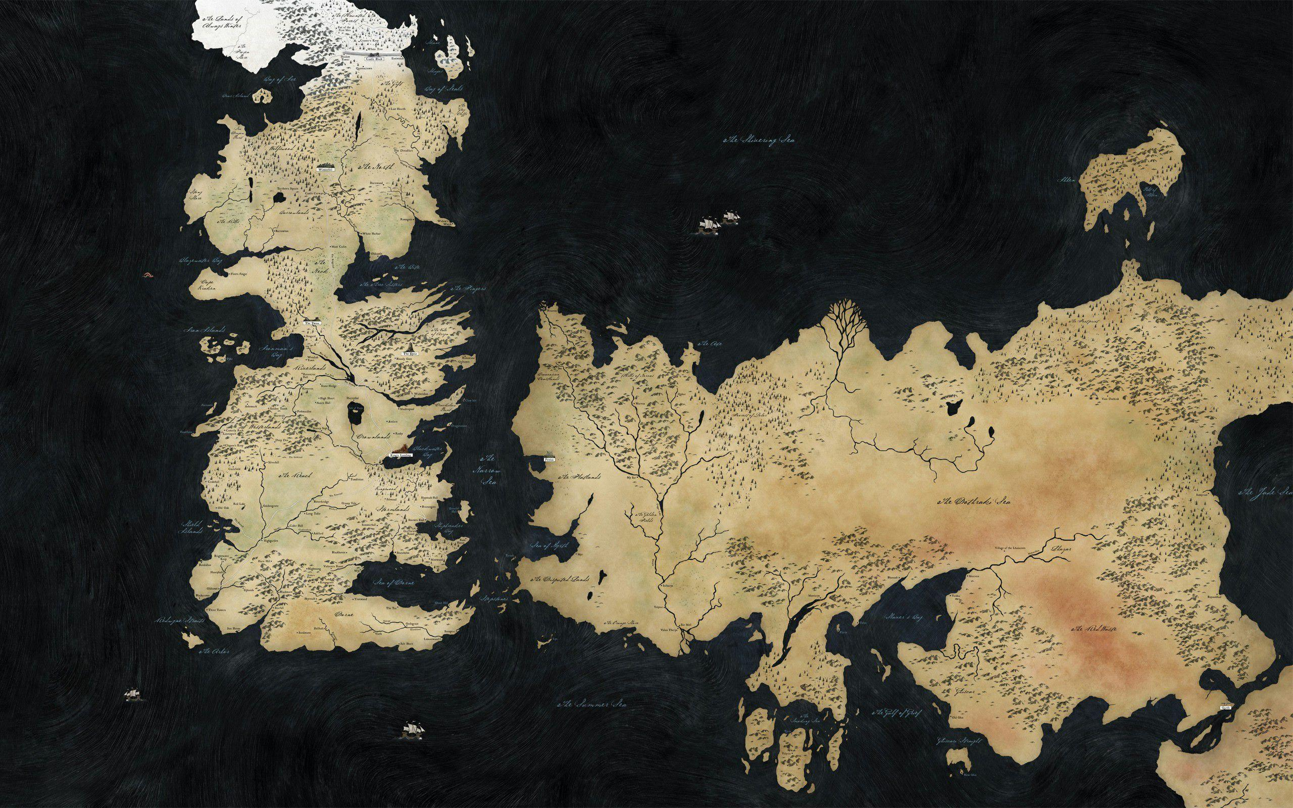 Game Of Thrones Map Wallpapers