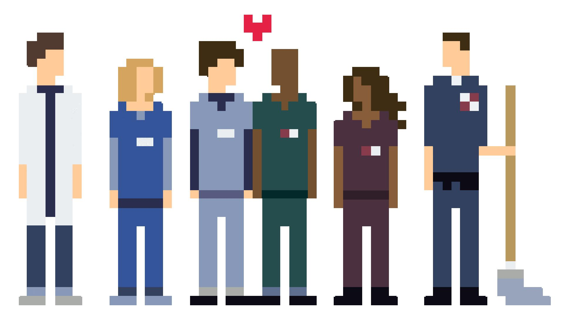 8 Bit Scrubs [1920x1080] : wallpapers