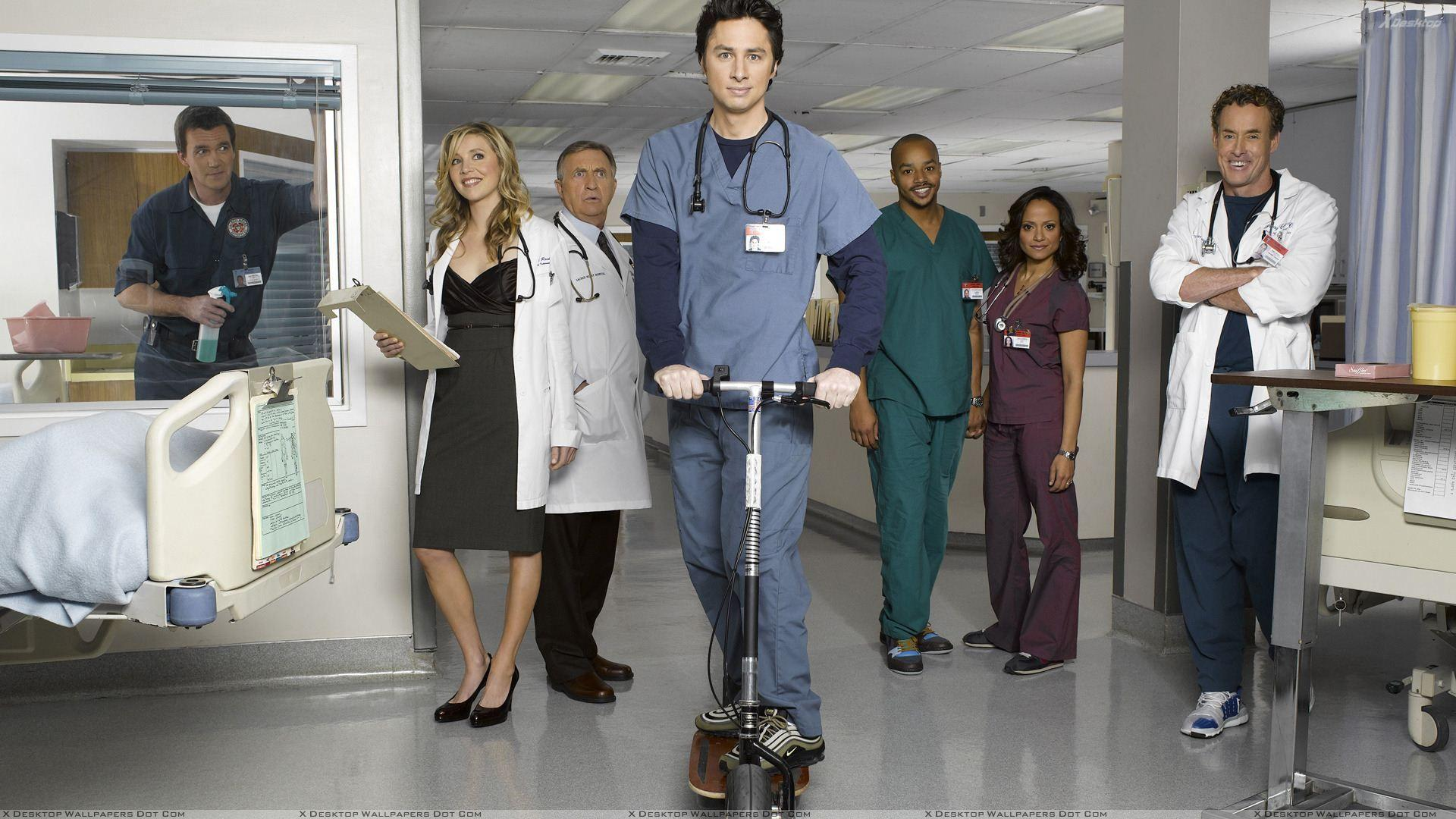 Scrubs – Zach Braff In Hospital Wallpapers