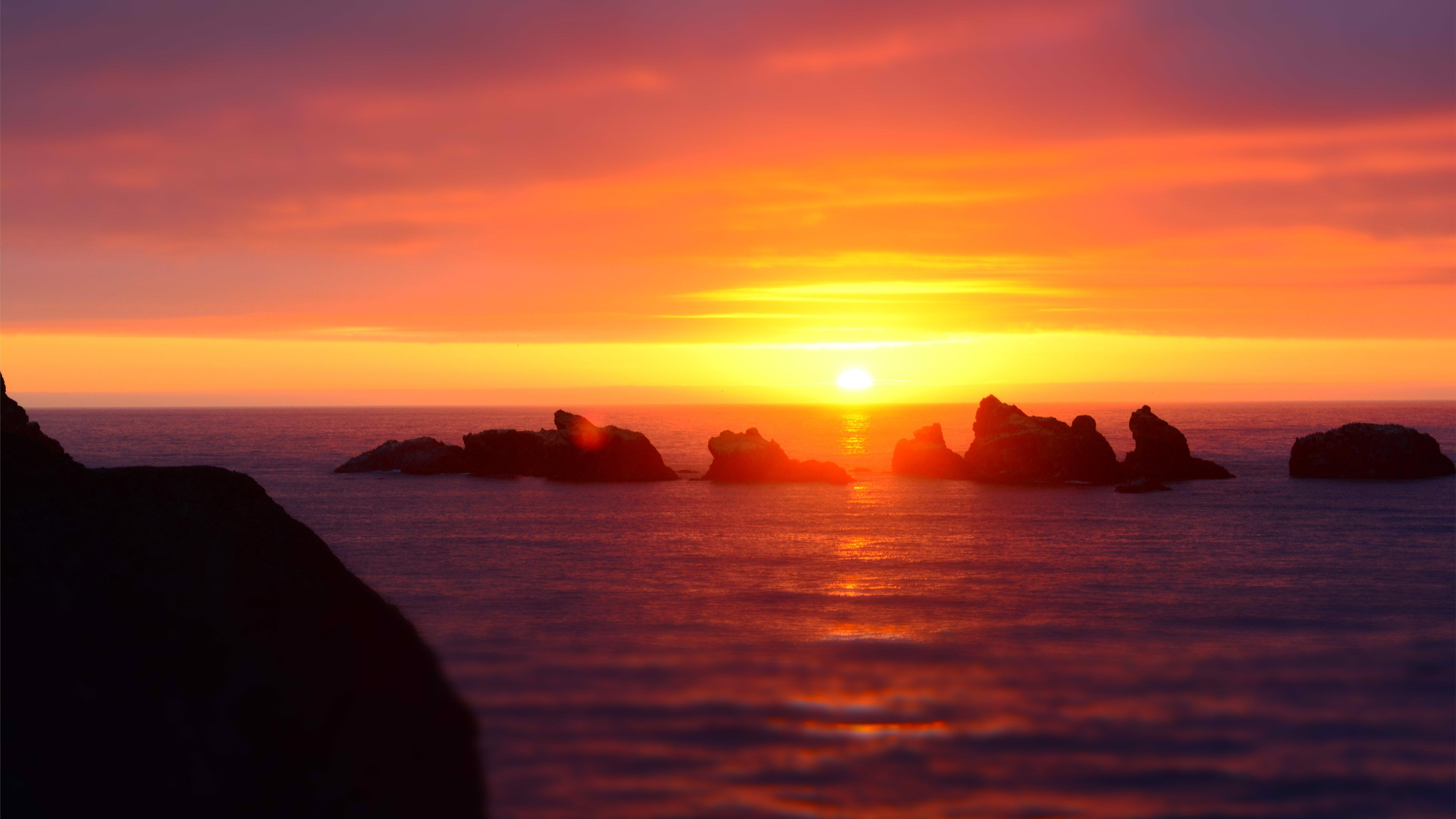 Bandon sunset over the oc... Mac Wallpapers Download