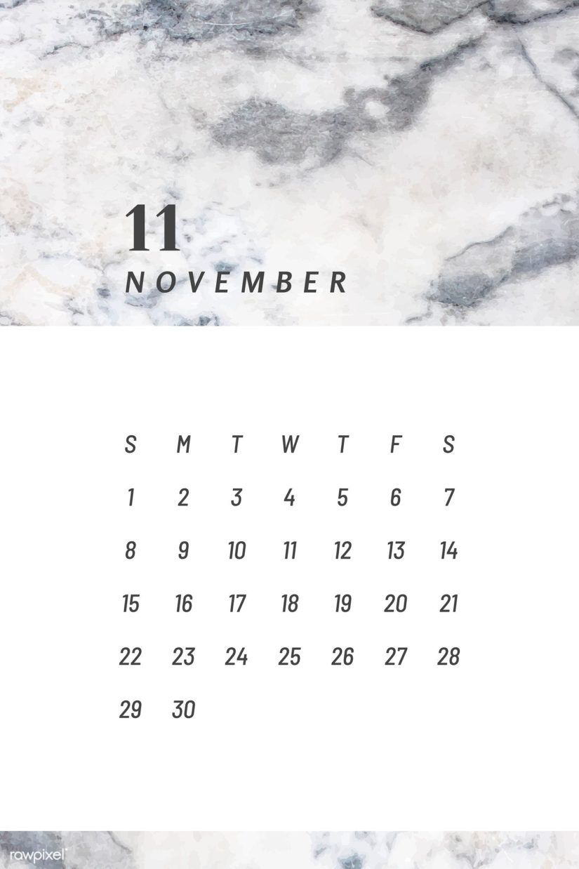 Free Printable November 2020 Calendars for USA