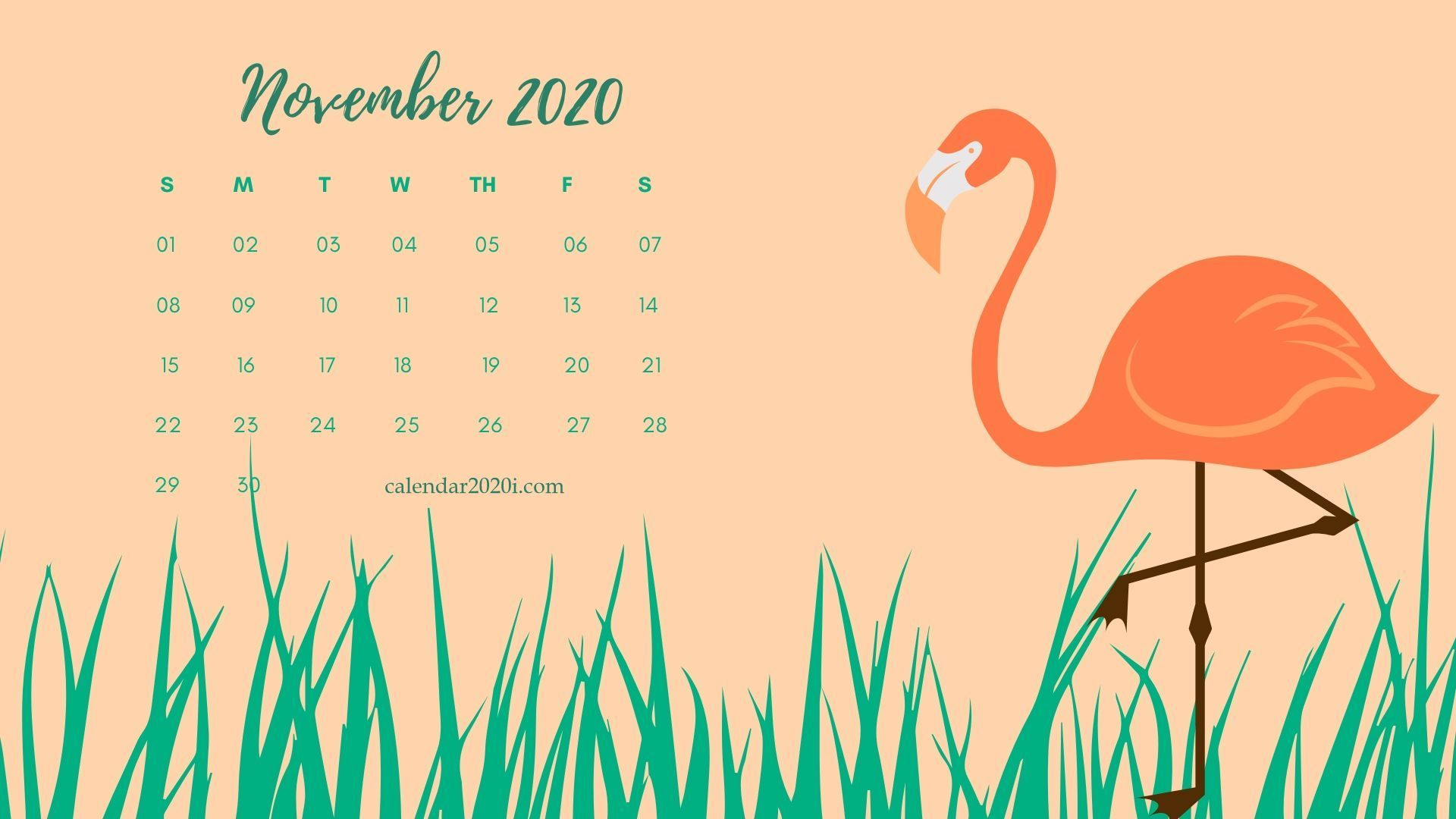 2020 Desktop Monthly Calendar Download