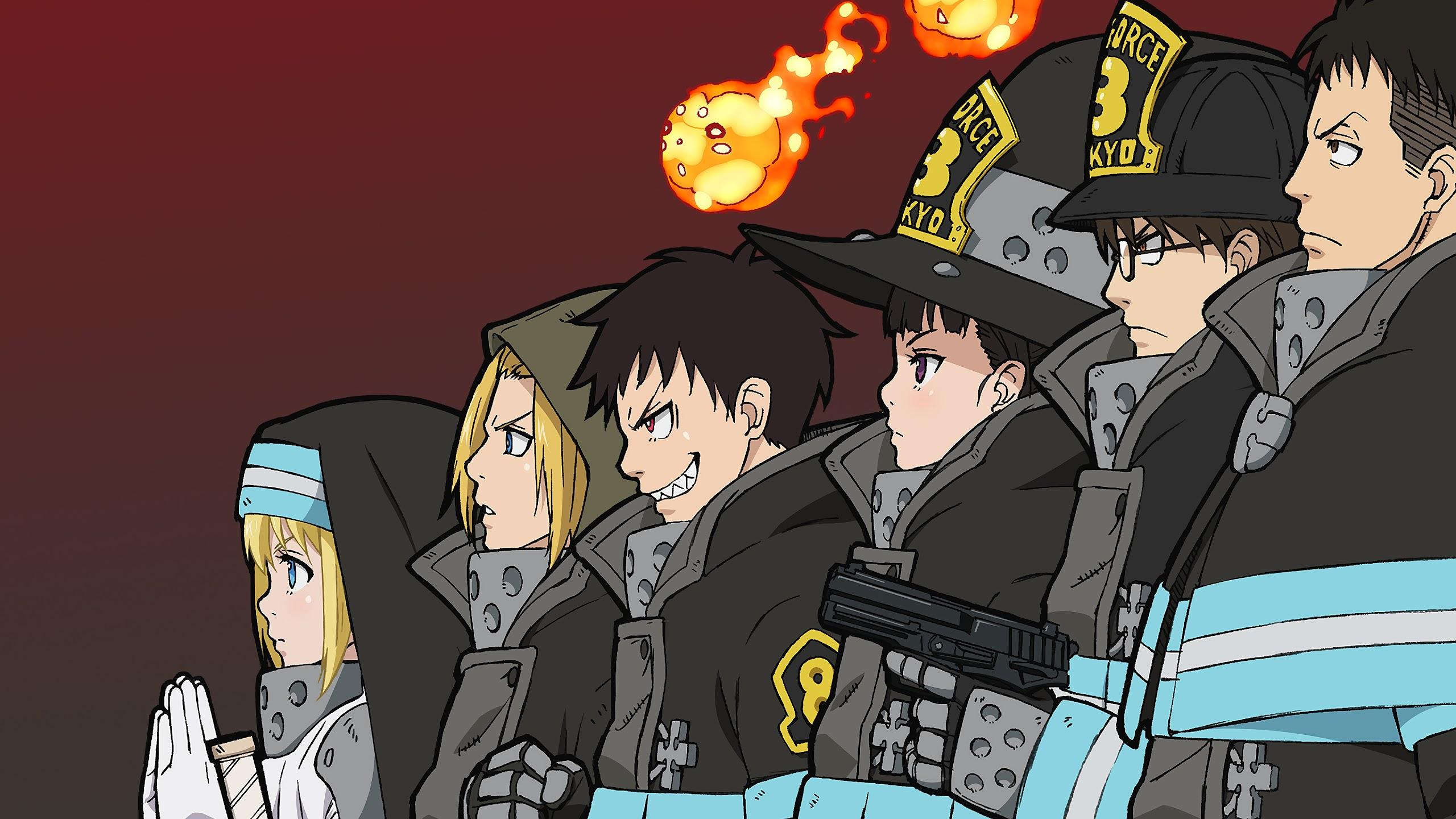 Fire Force Special Fire Force Company 8 Characters 4K