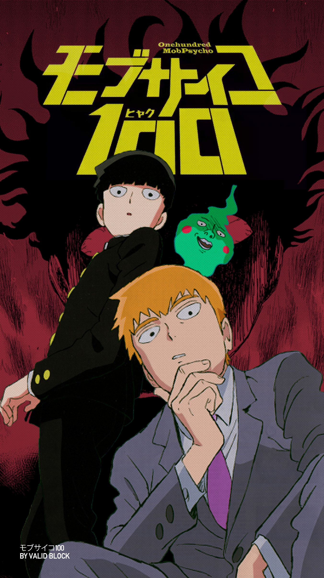 MOB PSYCHO 100 [モブサイコ100] PHONE WALLPAPERS BY