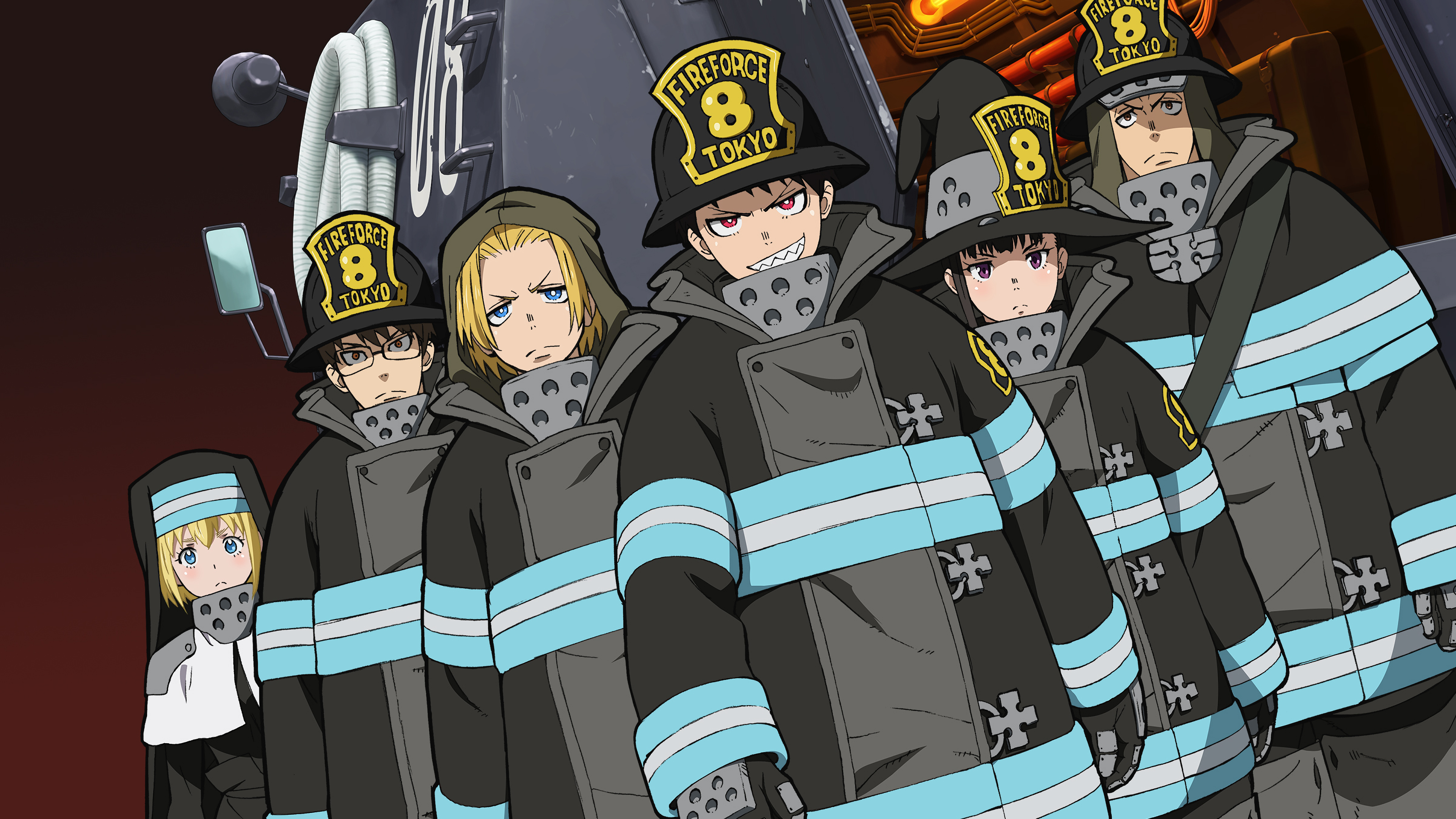 Fire Force Characters Special Fire Force Company 8 4K