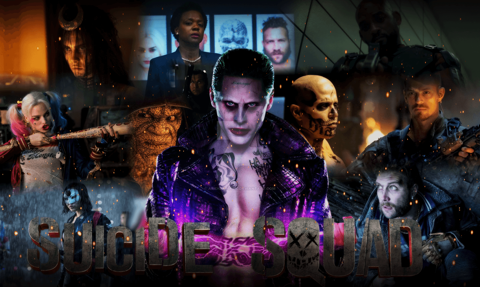 Free download Suicide Squad Movie wallpapers by ArkhamNatic [1600x955] for your Desktop, Mobile & Tablet