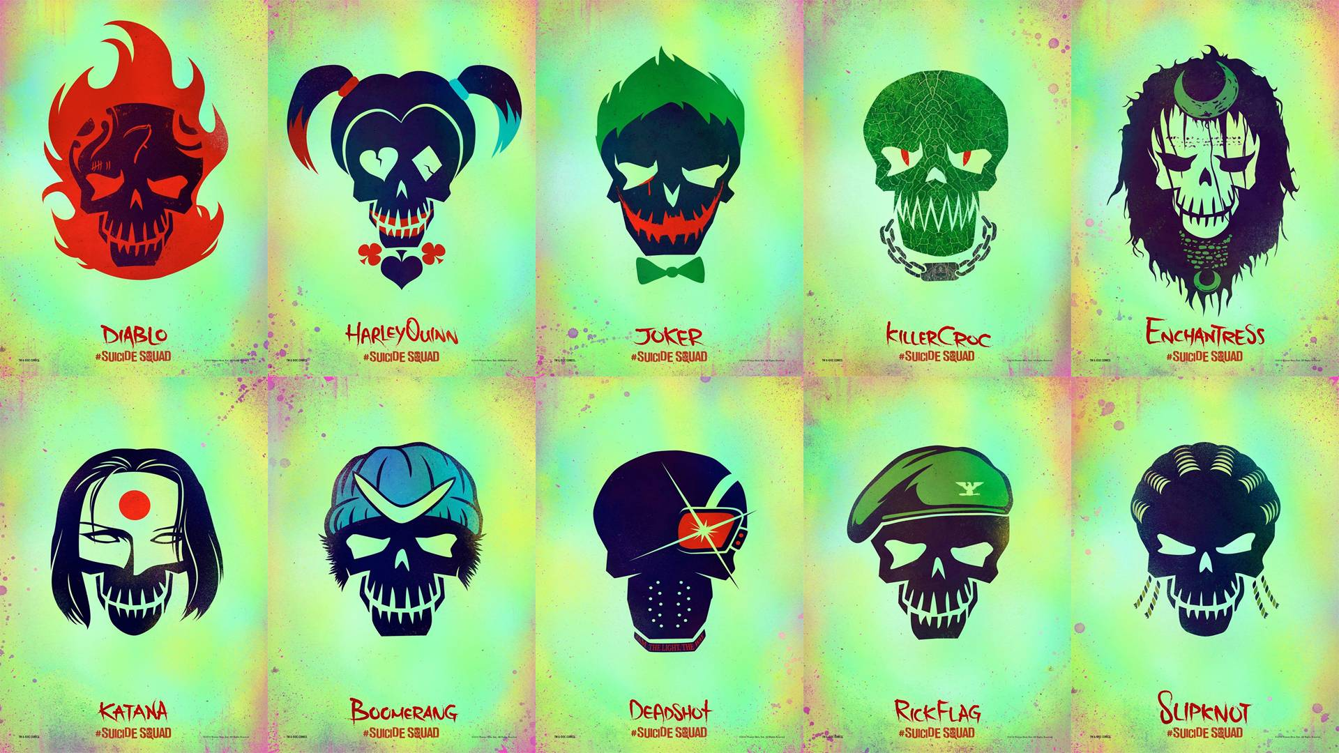 Wallpapers I made out of the new Suicide Squad posters. : DCcomics