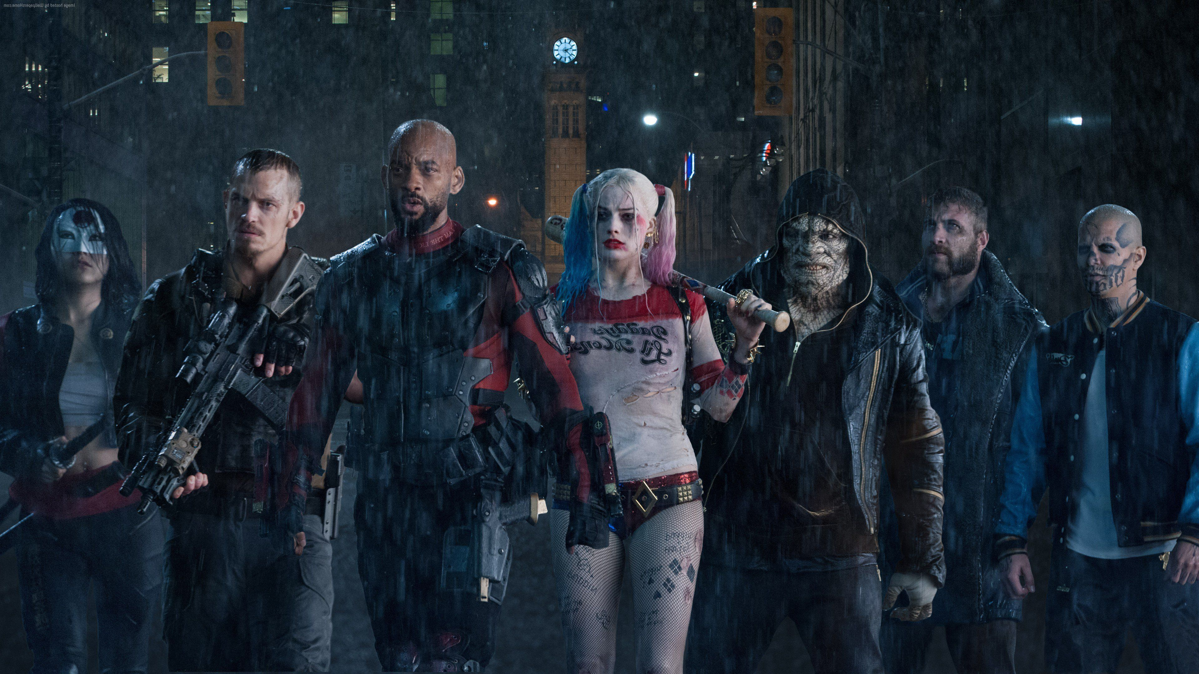 Wallpapers 4k Suicide Squad Team 2016 movies wallpapers, deadshot wallpapers, death stroke wallpapers, harley quinn wallpapers, movies wallpapers, suicide squad wallpapers