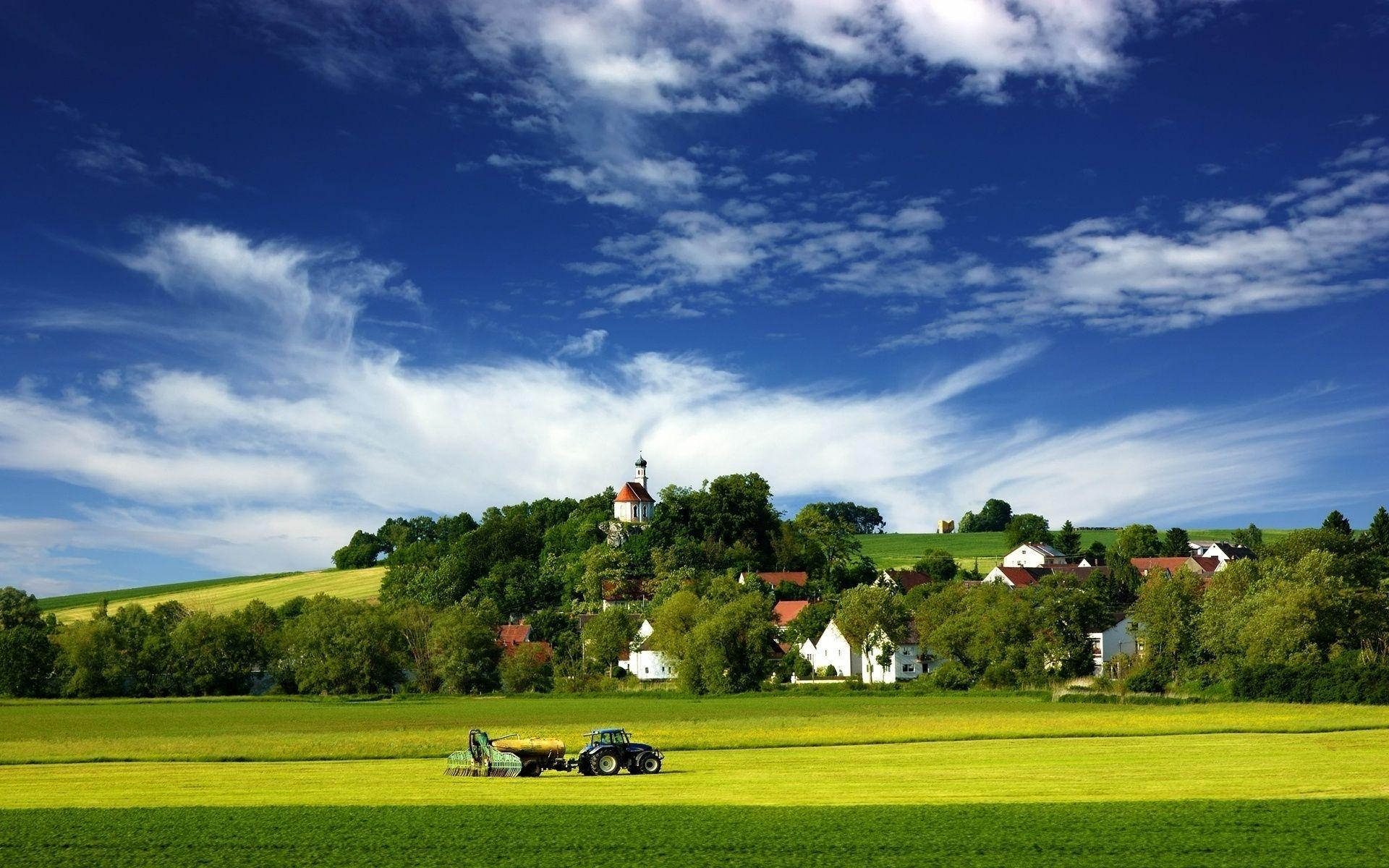 Image For > Tractor In Field Wallpapers