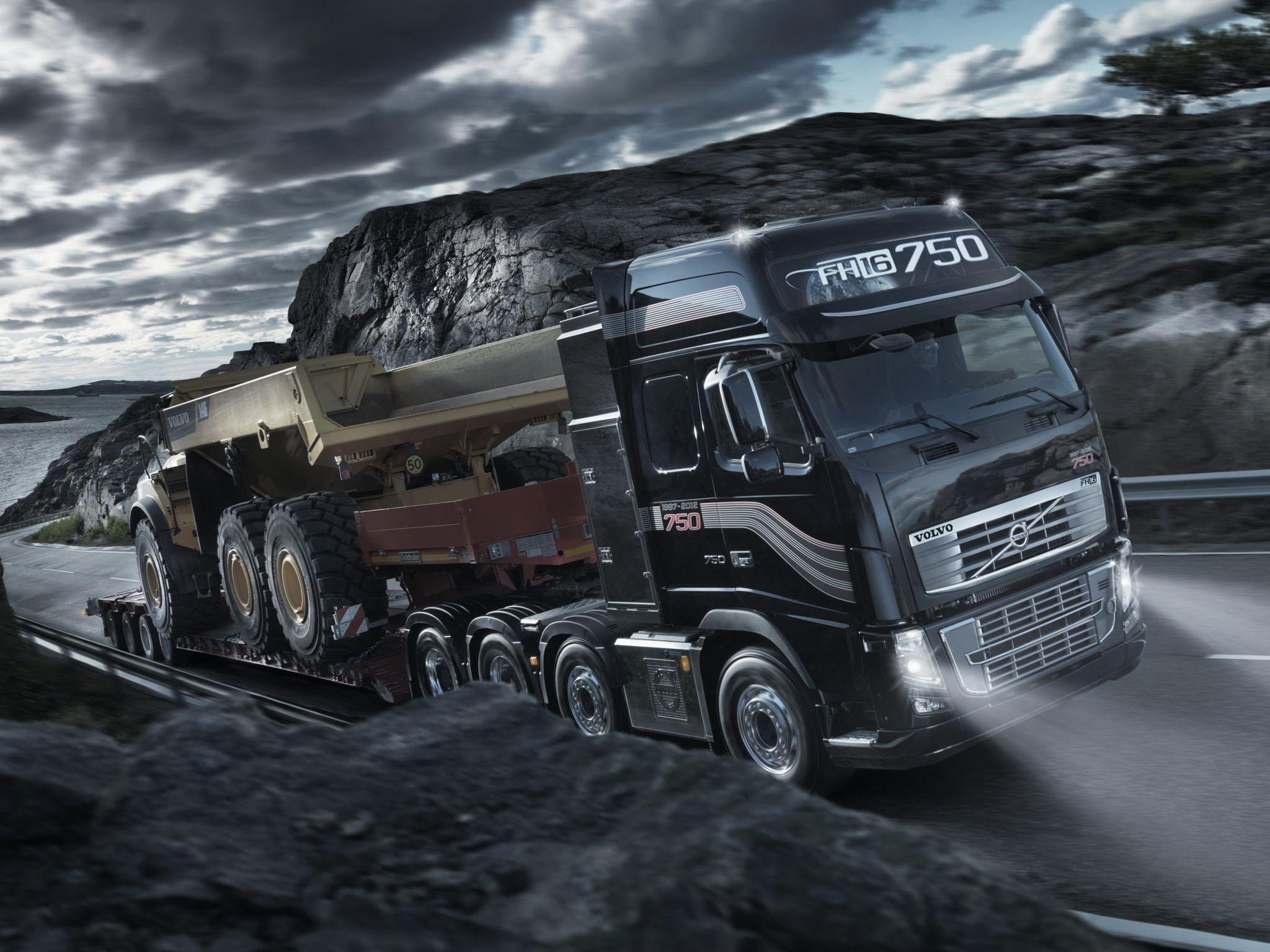 2011 Volvo FH16 750 8x4 tractor semi rig f wallpapers