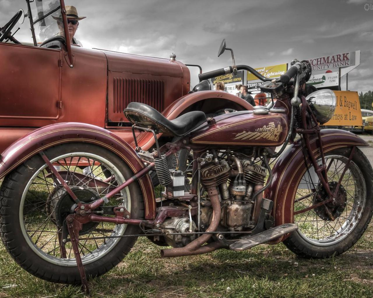 Vintage Indian Motorcycles Wallpapers Widescreen 2 HD Wallpapers
