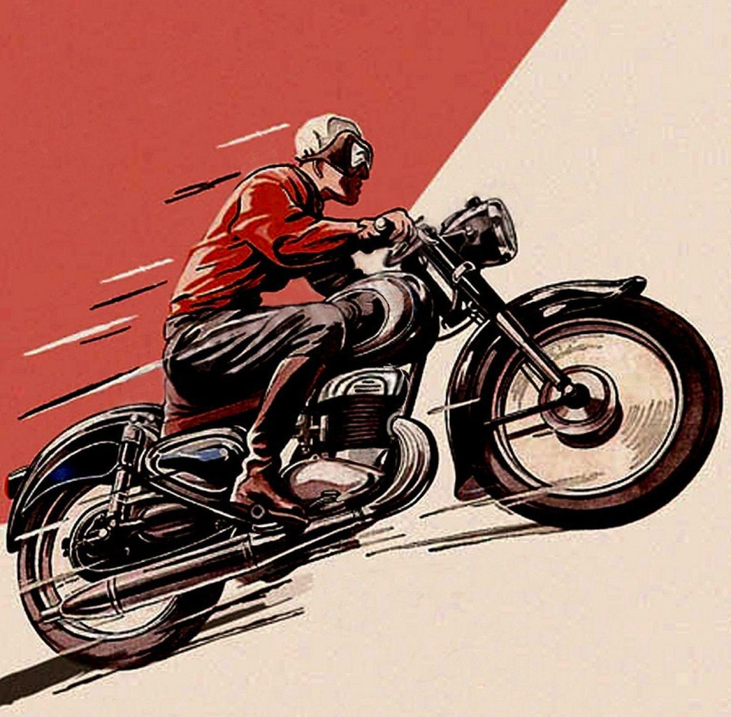 Vintage Motorcycle Posters And Sketches Wallpapers