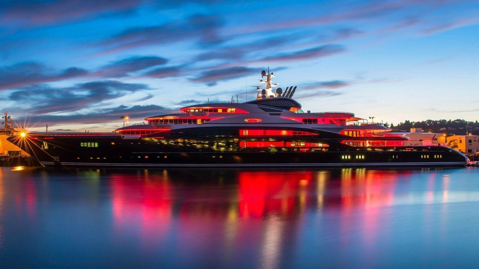 Yacht Pictures, Luxury Private Yachts: Mega Yacht Full HD Desktop
