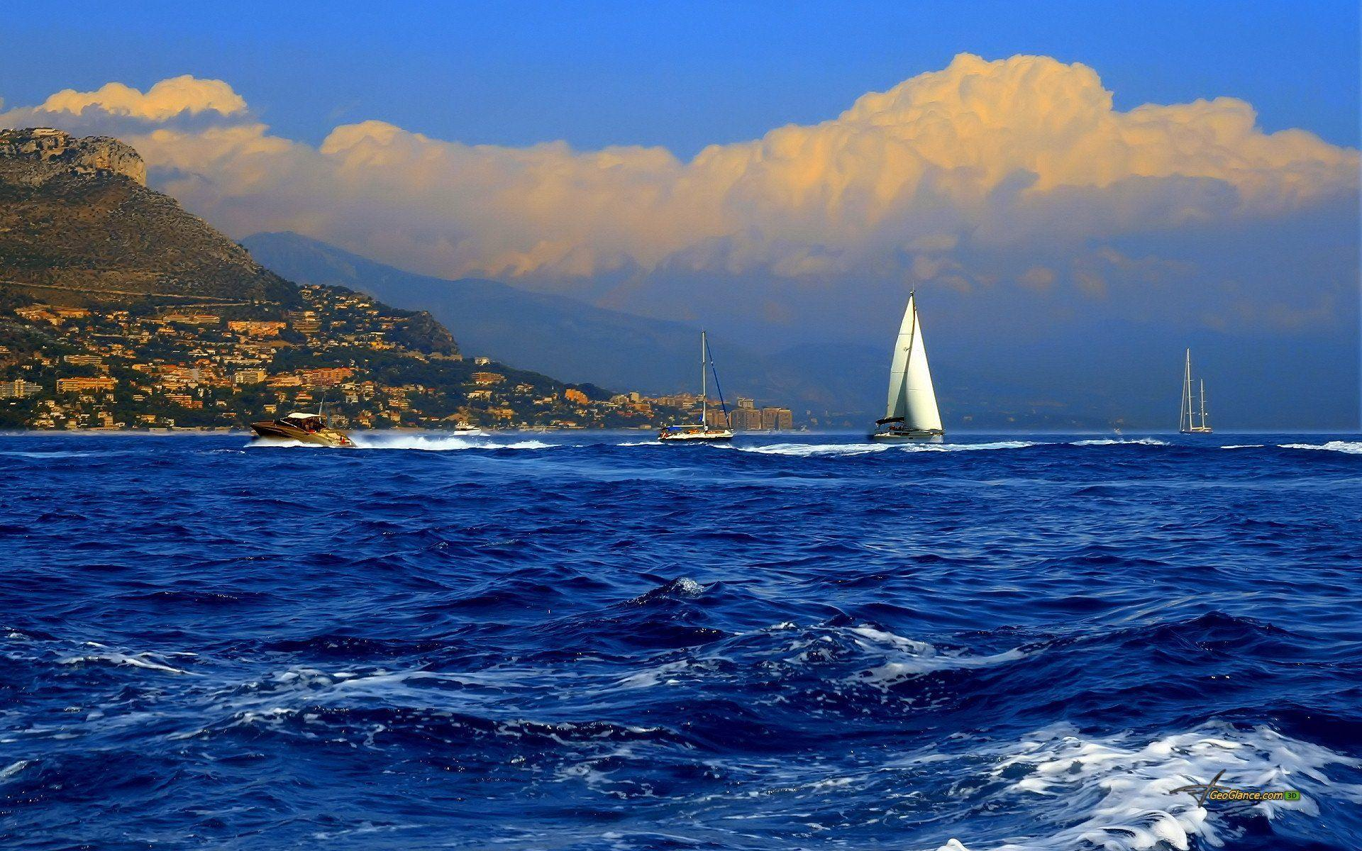 Yachts In Sea Wallpapers