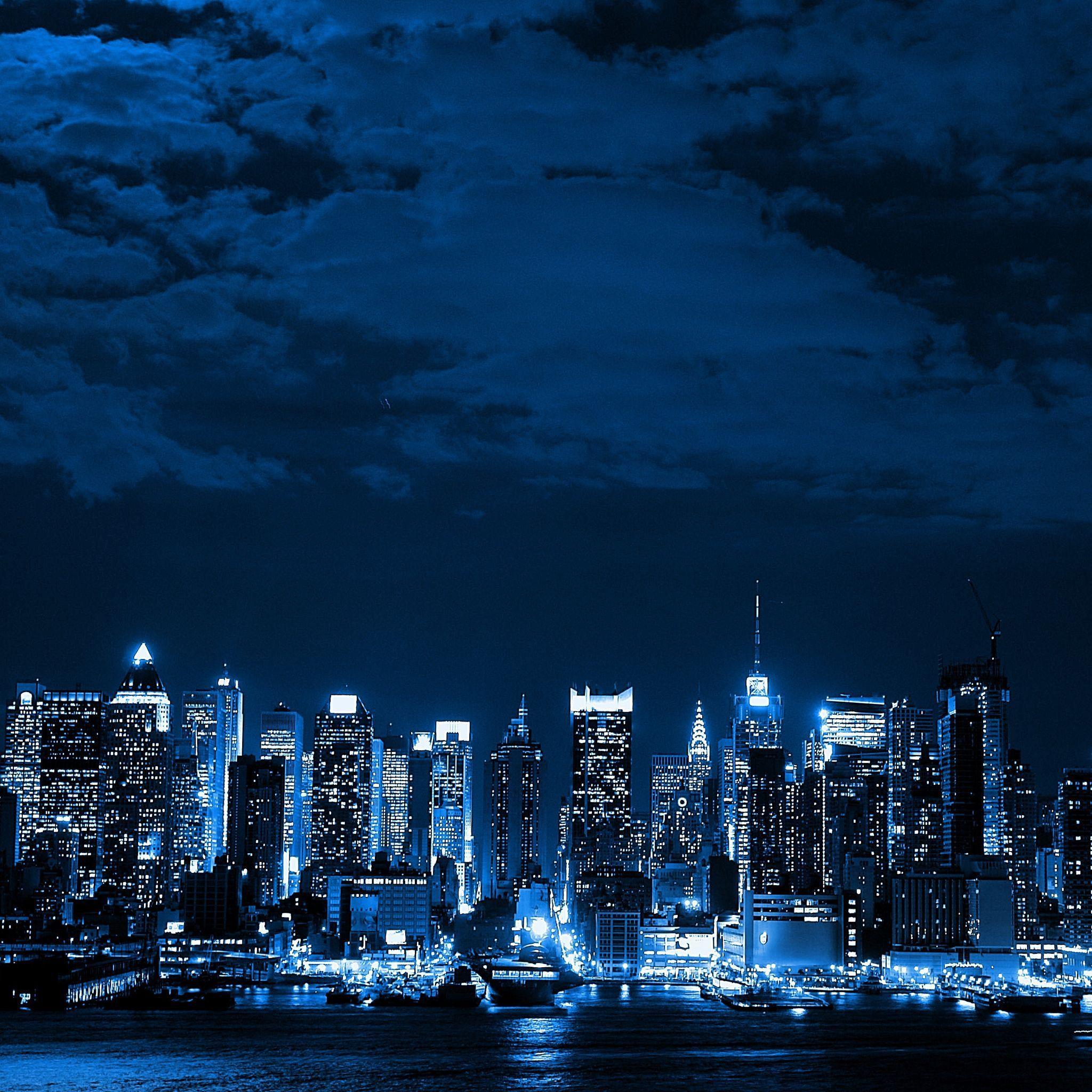 Blue and Black City Wallpapers
