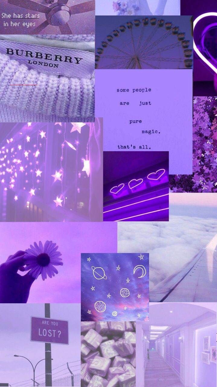Aesthetic purple wallpapers Purple aesthetic collage<b… in 2020