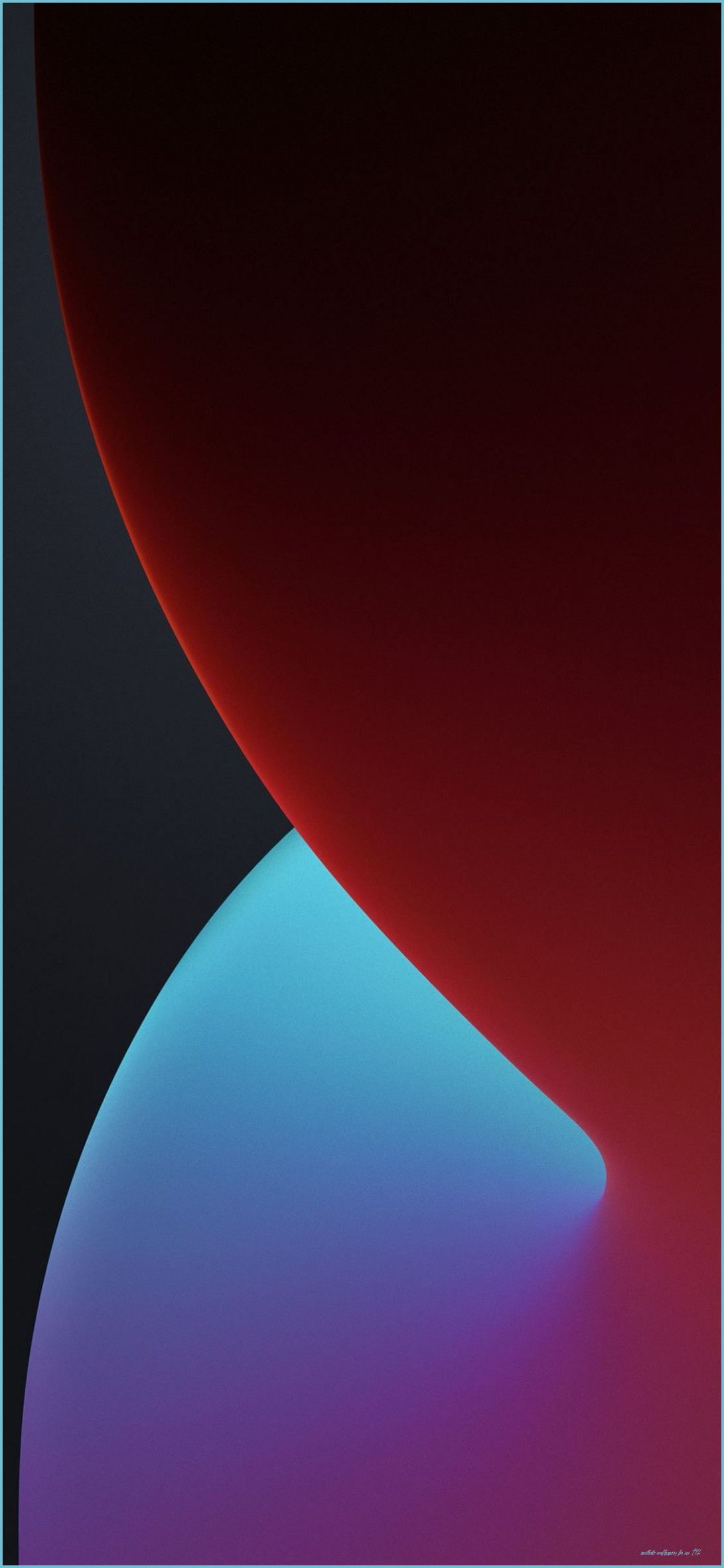 Free download the iOS 12 stock wallpapers Warm Dark wallpapers