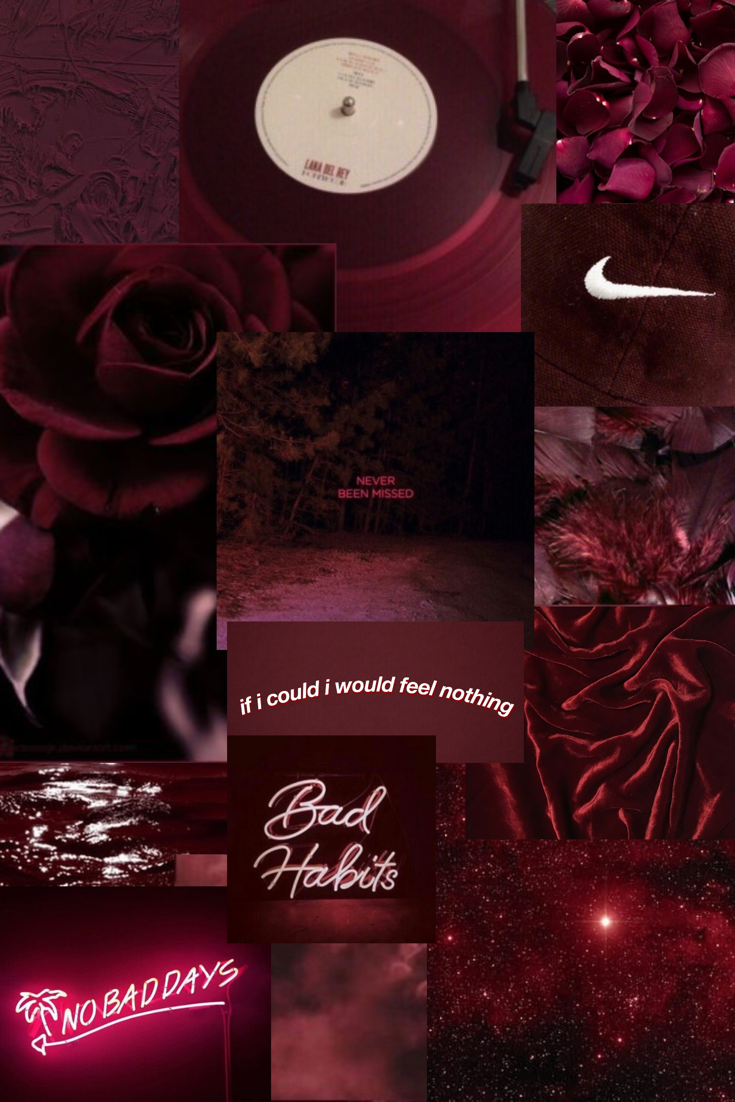 Burgundy collage I made. in 2020