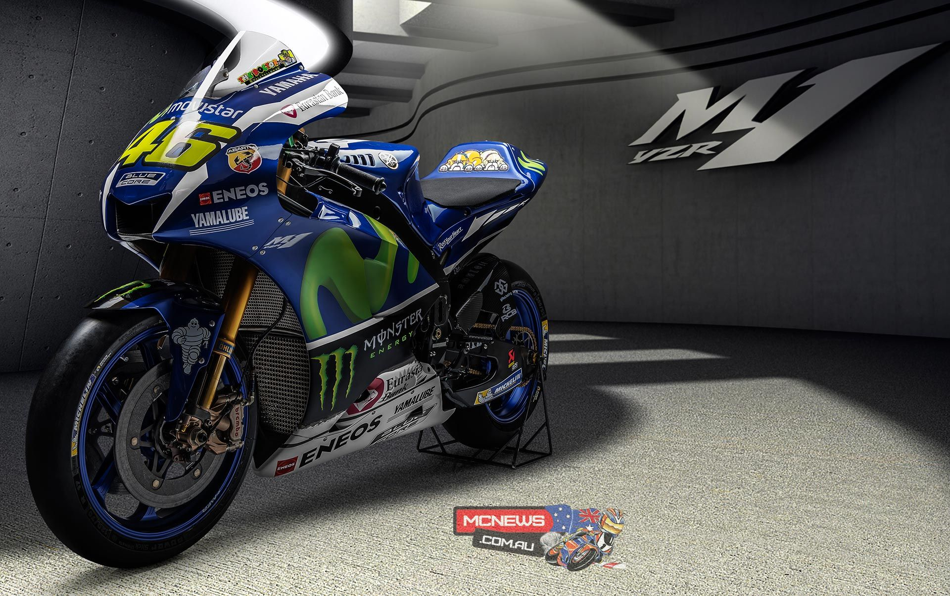 Free download Valentino Rossi 2016 MotoGP Livery MCNewscomau [1920x1204] for your Desktop, Mobile & Tablet