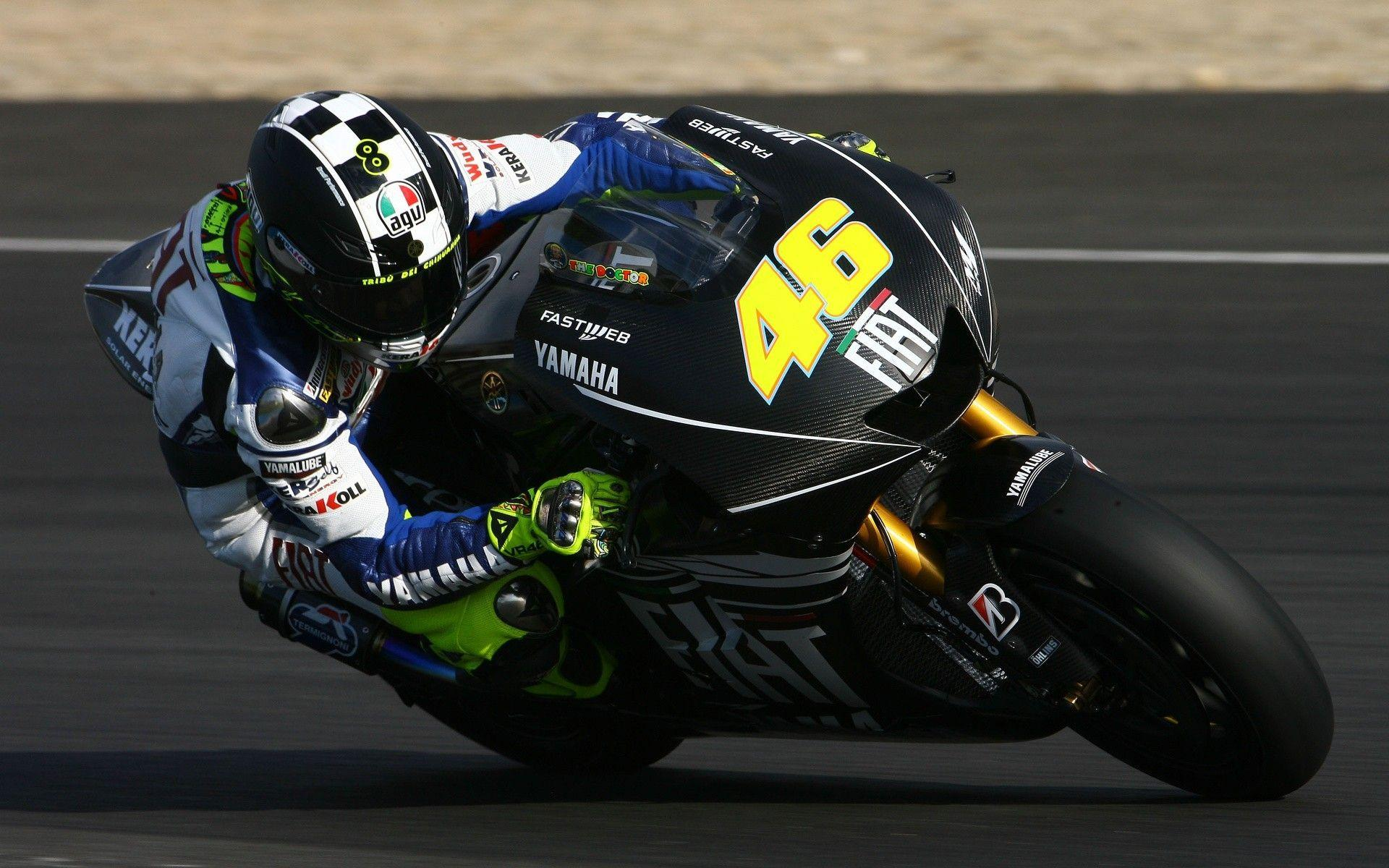 Gp valentino rossi the doctor fiat yamaha wallpapers
