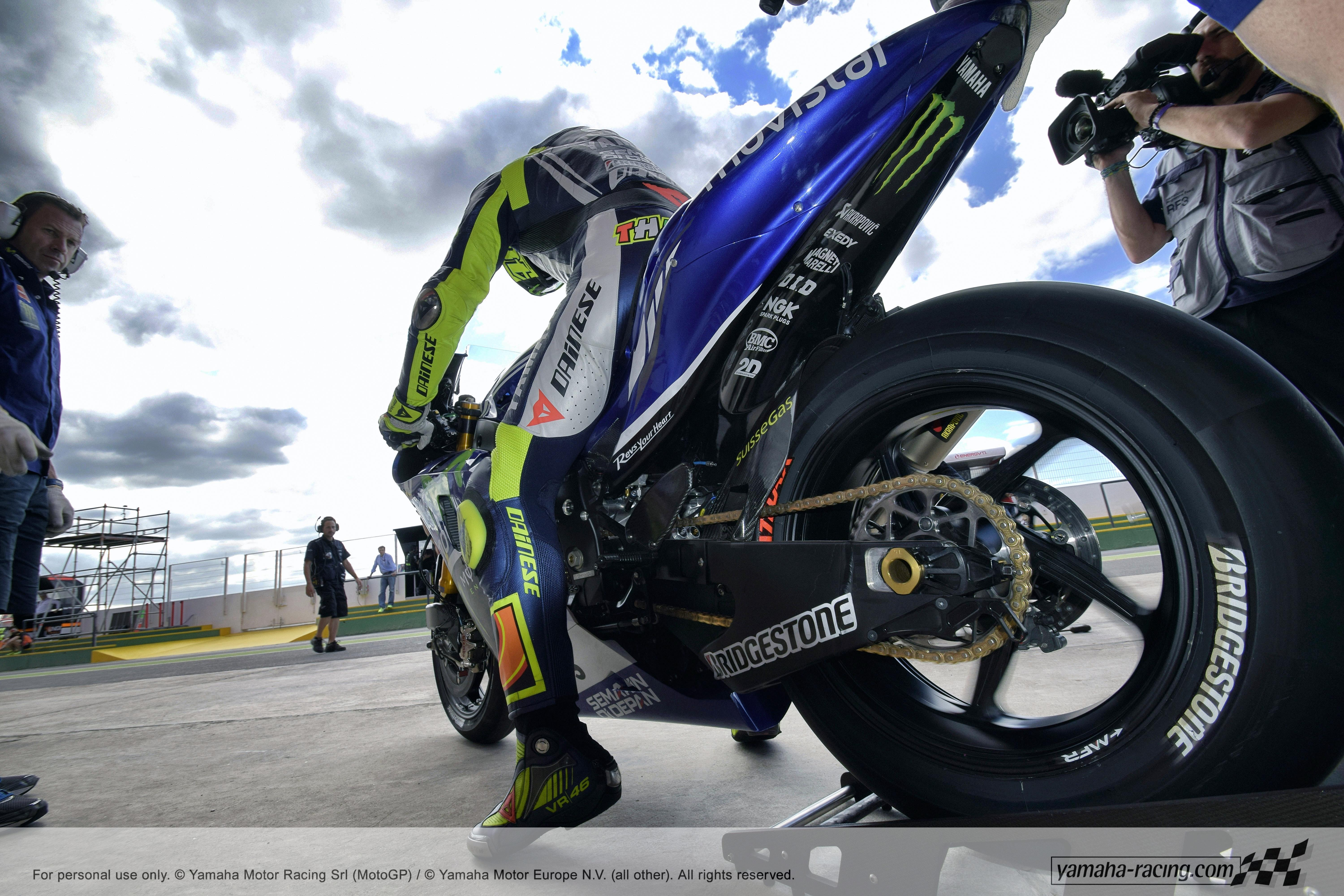 Valentino Rossi on a sports motorcycle wallpapers and image