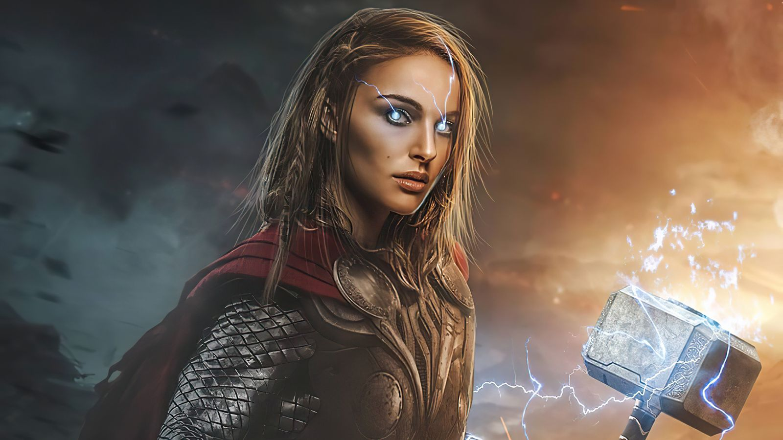 1600x900 Lady Thor Love And Thunder 4k 2021 1600x900 Resolution HD 4k Wallpapers, Image, Backgrounds, Photos and Pictures