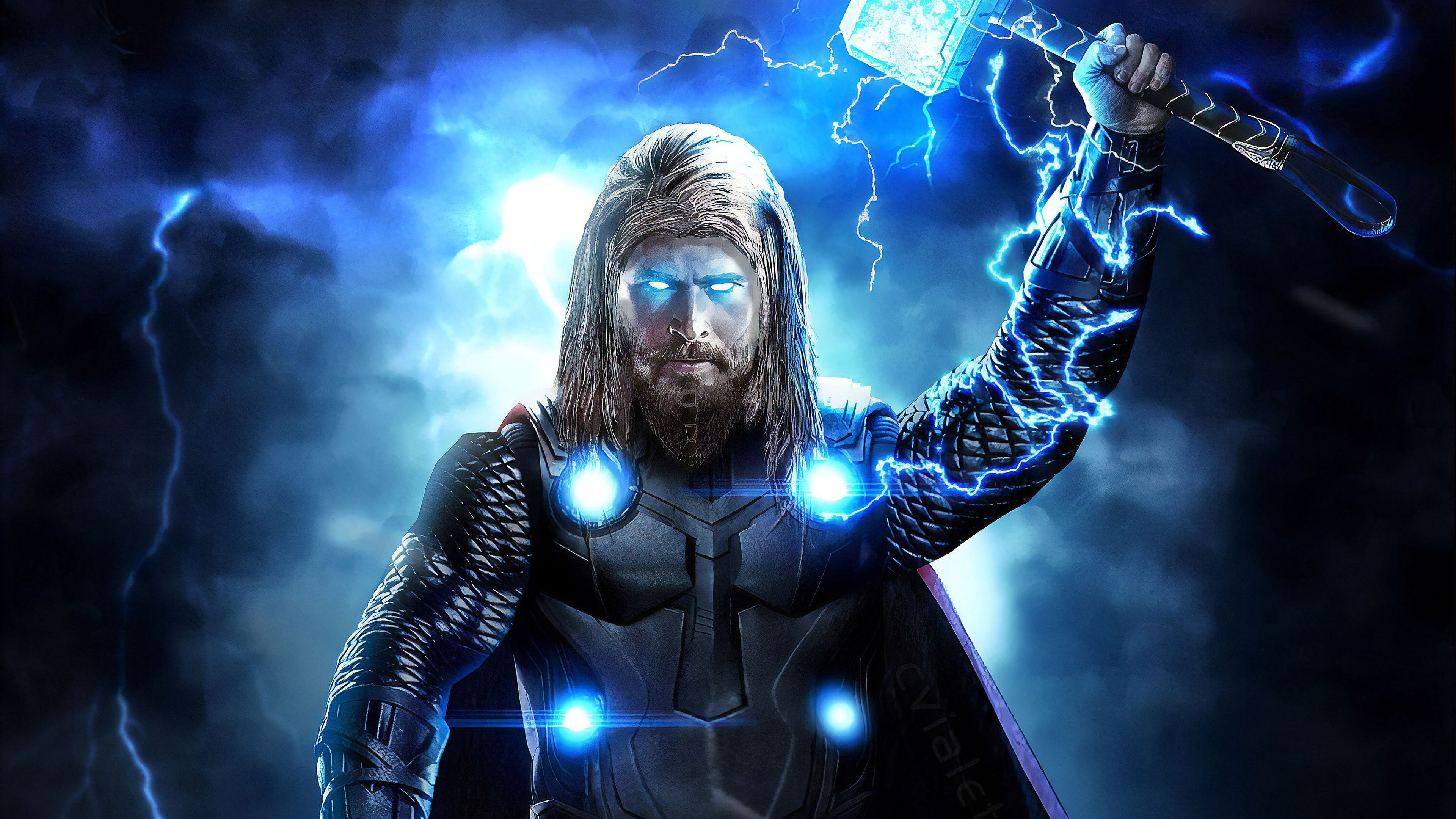 Thor Avengers Endgame Full Power, HD Superheroes, 4k Wallpapers, Image, Backgrounds, Photos and Pictures