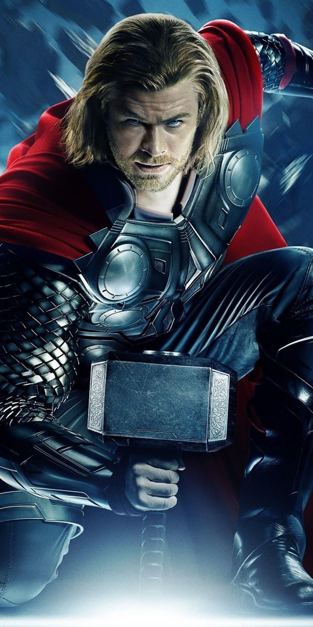 Download 1080x2160 Avengers, Thor, Armored, Hammer, Cape Wallpapers for Huawei Mate 10