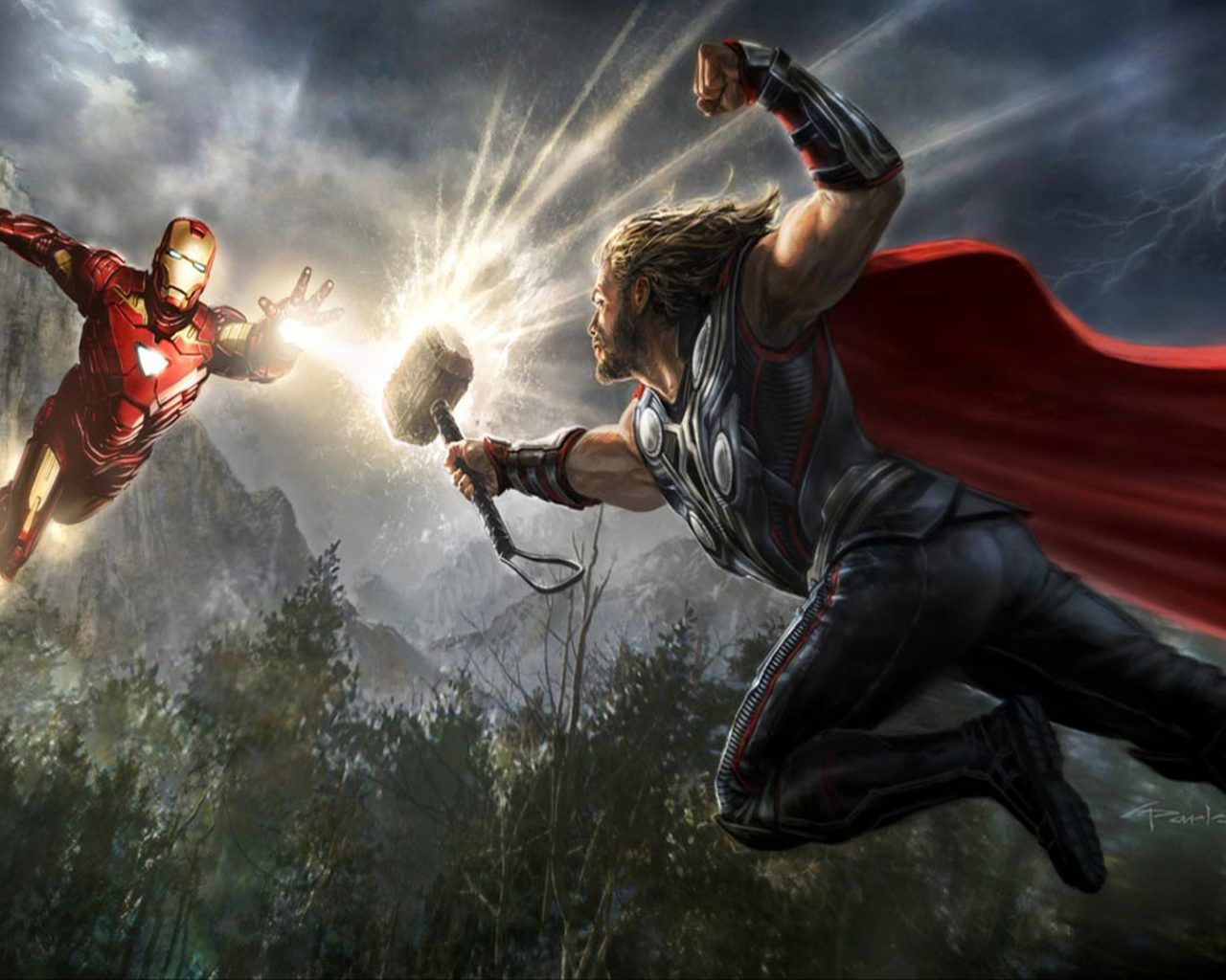 Thor And Iron Man The Avengers Marvel Movies Full Hd Wallpapers1920x1080 : Wallpapers13